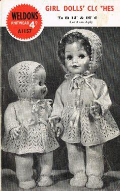 Weldons 1157 pram suit doll set vintage knitting pattern Listing in the Dolls,Patterns,Knitting & Crochet,Crafts, Handmade & Sewing Category on eBid United Kingdom