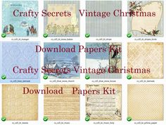 Preview 1 Vintage Christmas Papers