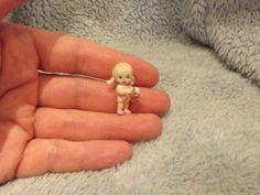 Miniature handmade MINI TINY TOY BABY GIRL ooak DOLLHOUSE ART DOLL HOUSE 1/12
