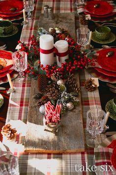 "vintage-chrismas-table-decoration  - <3 *** Search ""mesas de navidad"" in Pinterest **** <3"