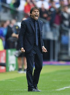 Antonio Conte head coach of Italy gestures during the UEFA EURO 2016 round of 16 match between Italy and Spain at Stade de France on June 27 2016 in. Antonio Conte, Uefa Euro 2016, 2016 Pictures, World Football, European Championships, Chelsea Fc, Spain, June, Soccer