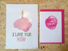 Just had a chap by these for his wife to cover both bases for Valentine's. Genius!  #iloveyourmind #iloveyourbum #valentines #justacard #print #handmadenottingham #shoplocal #supportindependent