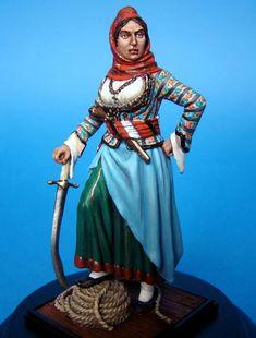 Επανάσταση 1821 - Λασκαρίνα Μπουμπουλίνα Greek History, In Ancient Times, Clothes For Women, Greece, Women's Clothing, Fictional Characters, Traditional, Outfits For Women, Women's Feminine Clothes
