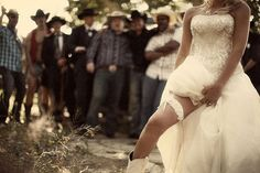 cowboy wedding I want this with my bridesmaids and groomsmen.  :-)