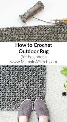 Rug how to crochet f
