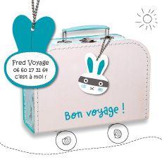 A-qui-Bag de A-qui-S : l'étiquette personnalisée pour sac et bagages 5.90€ port compris (monde entier !)