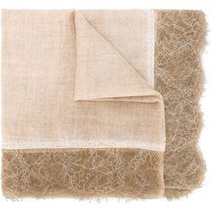 Faliero Sarti Verusca scarf (€585) ❤ liked on Polyvore featuring accessories, scarves, nude, faliero sarti and faliero sarti scarves