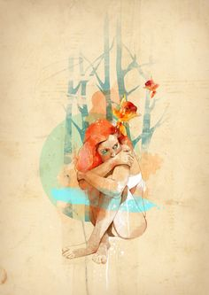 Composition  Lonely by Ariana Perez, via Behance