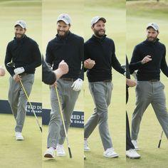 That'll do. Jamie Dornan, not bad golfer.
