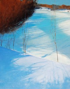 Art by contemporary artist David Lidbetter. Paintings, mixed media and drawings. Landscape Artwork, Contemporary Landscape, Abstract Landscape, Abstract Art, Painting Snow, Canadian Art, Paintings I Love, Cool Artwork, Paisajes