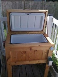 outdoor cooler for the summer deck ideas. With no legs it could be additional seating.