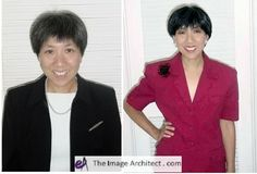 Go from demure to dynamic with an image makeover by Sandy Dumont. #imagearchitect #makeovers
