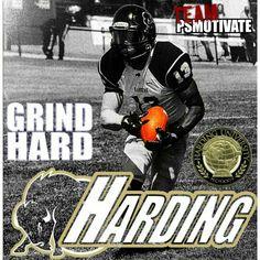 Harding football player Eli Jones #13 PSMOTIVATE