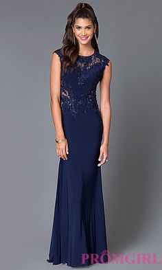 Sleeveless Long Prom Dress MF-E1931 with Lace Details at PromGirl.com