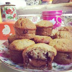 7 Muffins à la banane au coeur Nutella    Blog mode