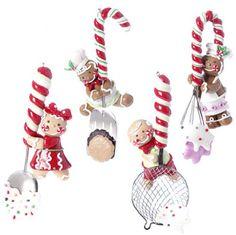 RAZ Imports  Gingerbread Utensil Ornament (Set of 4)