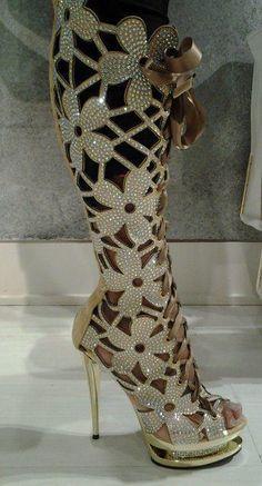 botas glamorosas, demasiado para mi