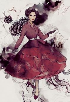 Illustrated fashion editorial - Soleil Ignacio
