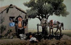 FMC - LOS PRIMEROS PASOS Places To Travel, Illustration, Horses, Cartoon, Painting, Animals, Club, Vintage, Folklore