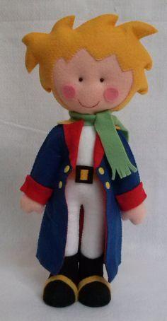 Kit Pequeno Príncipe de 30 cm fica em pé sozinho <br>, raposa, ovelha e rosa