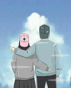Painting Love Couple, Couple Art, Hijab Drawing, Cute Muslim Couples, Islamic Cartoon, Anime Muslim, Hijab Cartoon, Cartoon Jokes, Cartoons