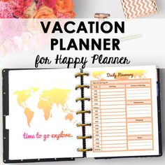Travel Planner for Happy Planner Printable Travel Journal