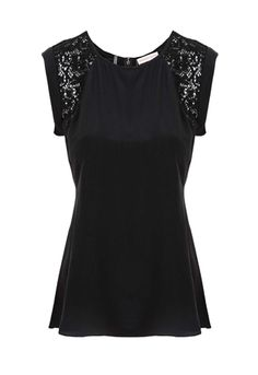 Oxygen | Rebecca Taylor Lace Top #RebeccaTaylor #lace #black #fashion #style #ootd #womenswear #shopping #boutique