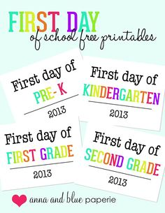 First Day of School Photo Op - Free Printable! #backtoschool, #kindergarten, #firstdayofschool, #freeprintable, #school, #schoolsign #photoop