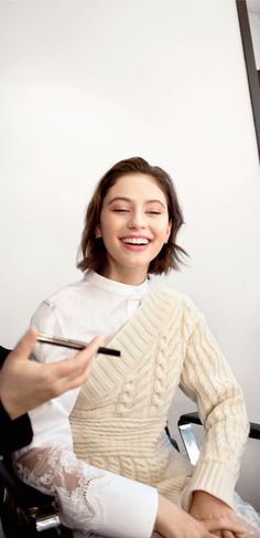 Effortless beauty. Iris Law behind the scenes for The Essentials.