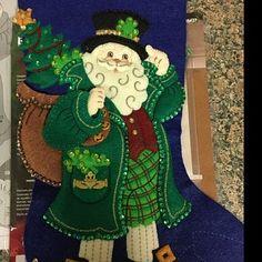 Bucilla Must Be Santa Felt Christmas Advent Calendar Kit Felt Stocking Kit, Christmas Stocking Kits, Felt Christmas Stockings, Felt Christmas Ornaments, Christmas Poinsettia, Christmas Time, Greeting Card Holder, Felt Wall Hanging, Christmas Wall Hangings