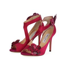 These are marvelous strappy sandal heels with a one of a kind look, only from Jimmy Choo! Strappy Sandals Heels, Stilettos, Shoes 2014, Fashion Heels, Ankle Straps, Manolo Blahnik, Designer Shoes, Jimmy Choo, Peep Toe