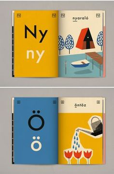 Hungarian-born Cyprus based artist/illustrator Anna Kövecses made this book for her four year old daughter Rebeka. Graphic Design Posters, Graphic Design Illustration, Graphic Design Inspiration, Typography Design, Kids Graphic Design, Space Illustration, Graphic Design Layouts, Pattern Illustration, Layout Inspiration