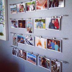 Photo wall on a budget