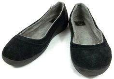 6725fef34196 Crocs Loafers Womens Size 11 M Lined Suede Solid Black Shoes  Crocs   LoafersMoccasins
