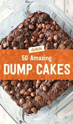 50 Dump Cake Recipes - Easy Dump Cakes - Delish.com Dump Recipes, Poke Cake Recipes, Poke Cakes, Cookie Recipes, Bundt Cakes, Cheesecake Recipes, Crockpot Recipes, Baking Recipes, Sweet Recipes