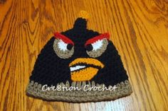 Angry Bird hat, Free pattern