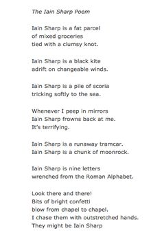 The Iain Sharp Poem by Iain Sharp
