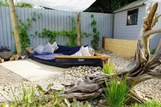 boat garden feature - Google Search