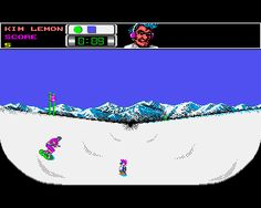 Ski or Die from EA for Amiga. Look at that punk penguin!!