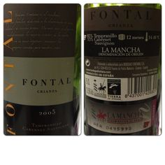 Vino Fontal. tempranillo (cencibel) y cabernet sauvignon. Crianza 2005. Bodegas Fontana.