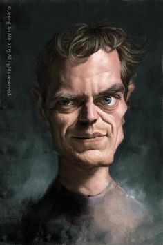 Michael Shannon by Jeong Jin Min   (I loved his roles in Boardwalk Empire.)