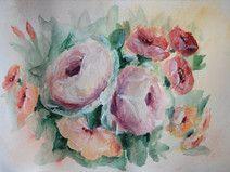 Blumen Malerei, A5, Acryl