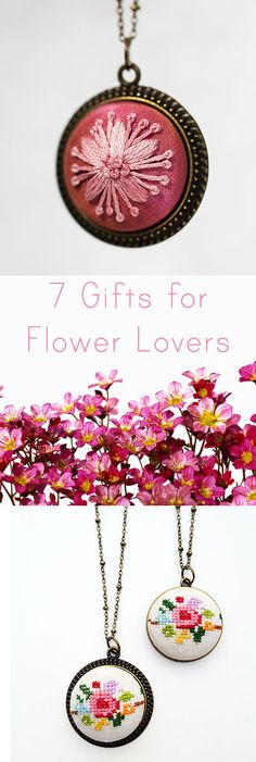 Searching for interesting gifts they'll love? This gift guide features some of the prettiest, most unique handmade gifts for flower lovers! Floral jewelry, perfume made from real flowers and more. Perfect for birthday gifts, Christmas, Hanukkah, Valentine's Day and any other day that calls for amazing gifts.