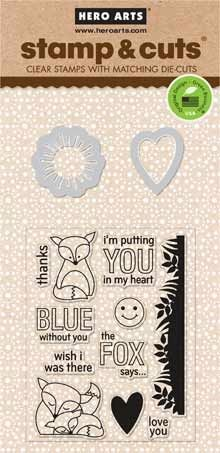 Hero Arts Stamp & Cuts THE FOX SAYS OWH Coordinating Stamp And Die Set DC142 2014 $12.99 @ SSS
