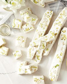 Nougat Blanc with Almonds & Pistachios #SweetPaul