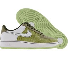 Nike Womens Air Force 1 07 Low Premium (pistachio / white / neutral olive) 315186-311 - $99.99