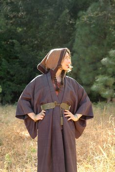 Free Size... Vintage Kimono With Hood... Hooded by AstralBoutique, $68.00