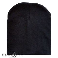 The classic black slouchy beanie! A must-have for all stylish little ladies & gentlemen!