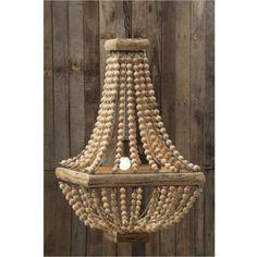 Wood Bead Chandelier | Lighting Connection