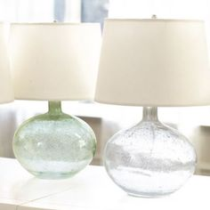 LOVE This one for a my nightstand lamps, in the clear blue.. remind me of the beach sea glass
